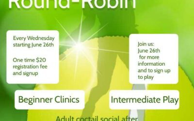REMINDER – ADULT TENNIS ROUND ROBIN