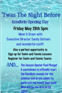 'Twas the Night before/ Pool Plunge @ Kendbrin Swim and Tennis Club